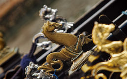 Venice horse symbol on gondola Stock Images