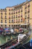 Venice hotel and gondola, Italy Royalty Free Stock Photo