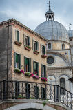 Venice House and Church Royalty Free Stock Images