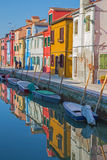 Venice - Houses over canal from Burano island Royalty Free Stock Photography