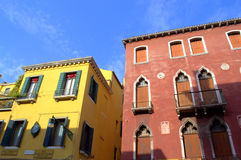 Venice houses Royalty Free Stock Photo