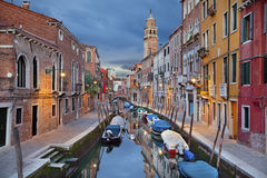 Venice. Image of one of many narrow canals in Venice royalty free stock photo