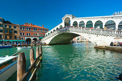 Venice, iRialto Bridge. Stock Photos