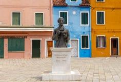 Venice. The island of Burano. Stock Image
