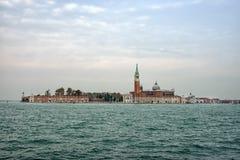 Venice. The island of San Giorgio Maggiore, seen from across the lagoon. Stock Photo