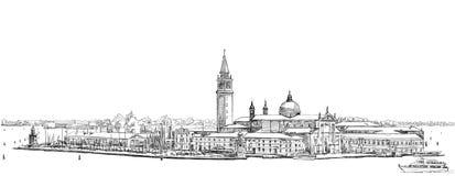 Venice - Island of San Giorgio Maggiore Royalty Free Stock Photography