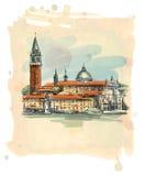 Venice - Island of San Giorgio Maggiore Stock Images