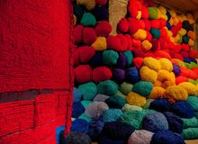 Sheila-Hicks-bale-of-fiber-and-tissues. Royalty Free Stock Photography