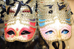 Venice Italian carnival mask for sale in the shop. Venice Italian many carnival mask for sale in the shop Royalty Free Stock Images