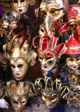 Venice Italian red and golden carnival mask Stock Photos