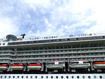 VENICE, ITALY – June 11, 2016: Cruise ship passing by with peo Royalty Free Stock Photos