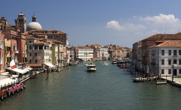Venice, Italy. Panorama of a canal of Venice (italy Royalty Free Stock Photo