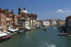 Venice, Italy. Panorama of a canal of Venice (italy Royalty Free Stock Images