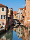 Venice, Italy. Typical view of canal in Venice Royalty Free Stock Photography