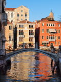 Venice, Italy. Typical view of canal in Venice Stock Photography