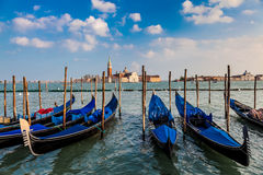 Venice, Italy. Gondolas and San Giorgio Maggiore Island, Venice, Italy Royalty Free Stock Photo