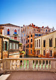 Venice, Italy. Venice small canal and bridge, Italy Royalty Free Stock Image