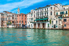 Venice - Italy. Ancient buildings along a canal in Venice, Italy Stock Images