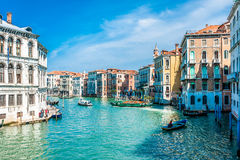 Venice - Italy. Ancient buildings along Canal Grande in Venice, Italy royalty free stock photos