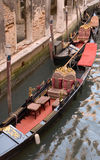 Venice,Italy. Parked gondolas in Venice,Italy Stock Photos
