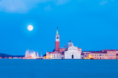 Venice, Italy. San Giorgio Maggiore Island in the evening, Venice, Italy Stock Photos
