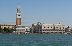 Venice, Italy. View of San Marco cathedral and square from the lake Stock Image