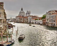 Venice, Italy. Grand Canal and Basilica Santa Maria della Salute, Venice, Italy Royalty Free Stock Images