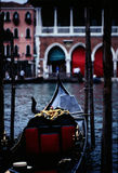 Venice - Italy. A parked gondola  in venice Royalty Free Stock Images