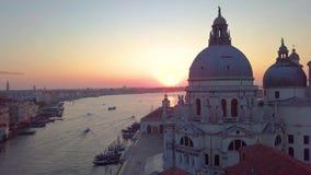 Venice , Italy, aerial view of Santa Maria della Salute