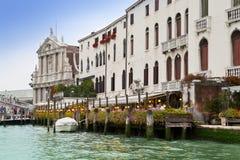 Venice. Italy, ancient buildings ashore Canal Grande Stock Photos