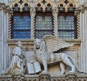 VENICE, ITALY architecture fragment Doge's Palace century Stock Photo