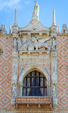 VENICE, ITALY architecture fragment Doge's Palace century Stock Images