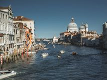 Grand Canal from the Ponte dell`Accademia royalty free stock images