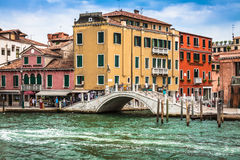 Venice, Italy,August 9, 2013: The beautiful view of a Canal Gran Royalty Free Stock Image