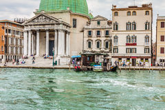 Venice, Italy,August 9, 2013: The beautiful view of a Canal Gran Royalty Free Stock Photos