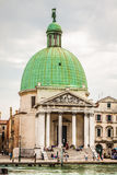 Venice, Italy,August 9, 2013: The beautiful view of a Canal Gran Stock Photography