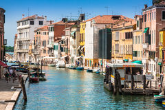 Venice, Italy,August 9, 2013: The beautiful view of a Canal Gran Royalty Free Stock Photo