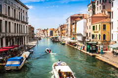 Venice, Italy,August 9, 2013: The beautiful view of a Canal Gran Stock Images