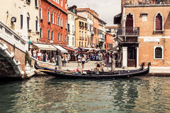 Venice, Italy,August 9, 2013: The beautiful view of a Canal Gran Royalty Free Stock Photography