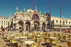 Venice, Italy - August 14, 2017: Cathedral of San Marco, Cathedral of Venice. Venice, Italy - August 14, 2017: Cathedral of San Marco Cathedral of Venice Royalty Free Stock Photo
