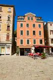 Venice, Italy - August 14, 2017: The cozy cafes of Venice. Venice, Italy - August 14, 2017 The cozy cafes of Venice Stock Photography