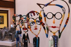 Figures of The Beatles by sculptor Dorit Levinstein in art galle. Venice, Italy - August 13, 2016: Figures of The Beatles by sculptor Dorit Levinstein in art Stock Photo