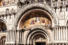 VENICE, ITALY - AUGUST 18, 2016: Piazza San Marco with the Basilica of Saint Mark and the bell tower of St Mark's Campanile Royalty Free Stock Photography