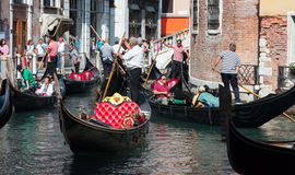 Venice, Italy. August 31, 2014. Traffic at Venice  Stock Photo