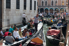Venice, Italy: August 31, 2014. Traffic at Venice  Stock Photo