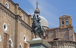 Bartolomeo Colleoni Monument in Venice, Italy. VENICE, ITALY:Bartolomeo Colleoni Monument in Campo Santi Giovanni e Paolo square Stock Image