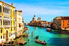 Venice, Italy. Basilica Santa Maria della Salute with Grand Canal Royalty Free Stock Photography