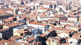 Venice Italy from belltower of Saint Mark stock video footage