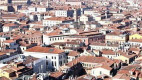 Venice Italy from belltower of Saint Mark stock video