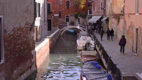 Venice Italy, bnarrow channel of the old town stock footage